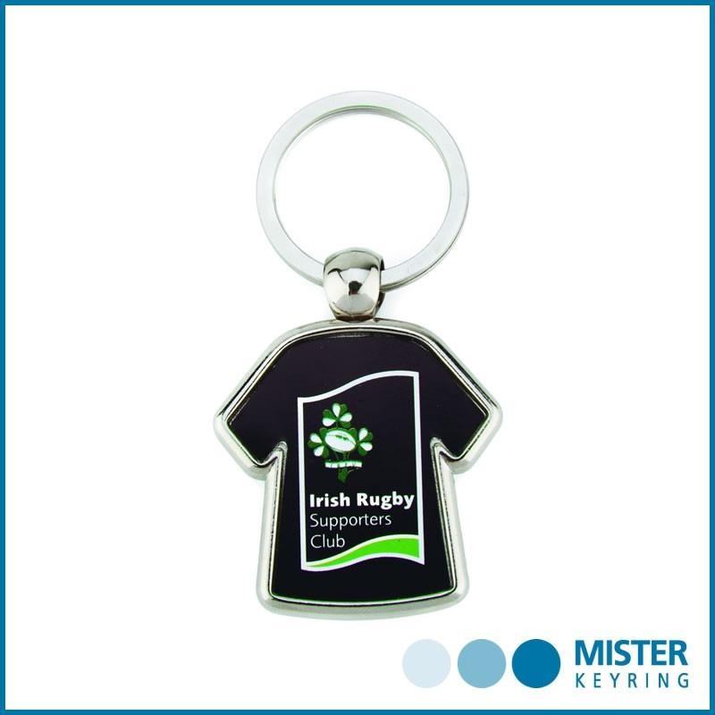 MX-D Bedruckter Schlüsselanhänger in T-Shirt-Form aus Metall